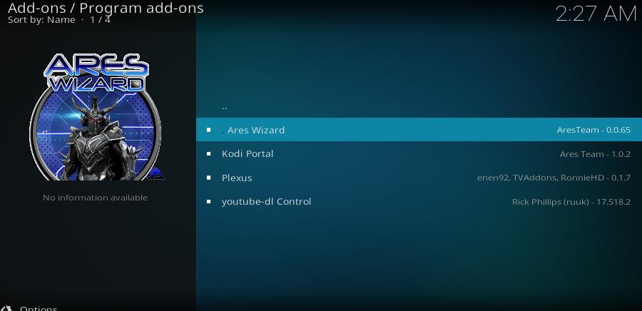 Guide Install Ares Wizard on Kodi 17 6 2018   Kodi-Tv