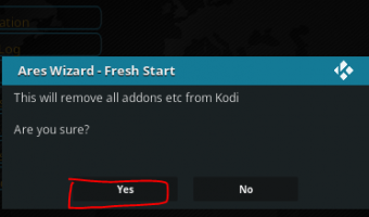 Factory Reset Fresh Start Kodi Krypton 17.4