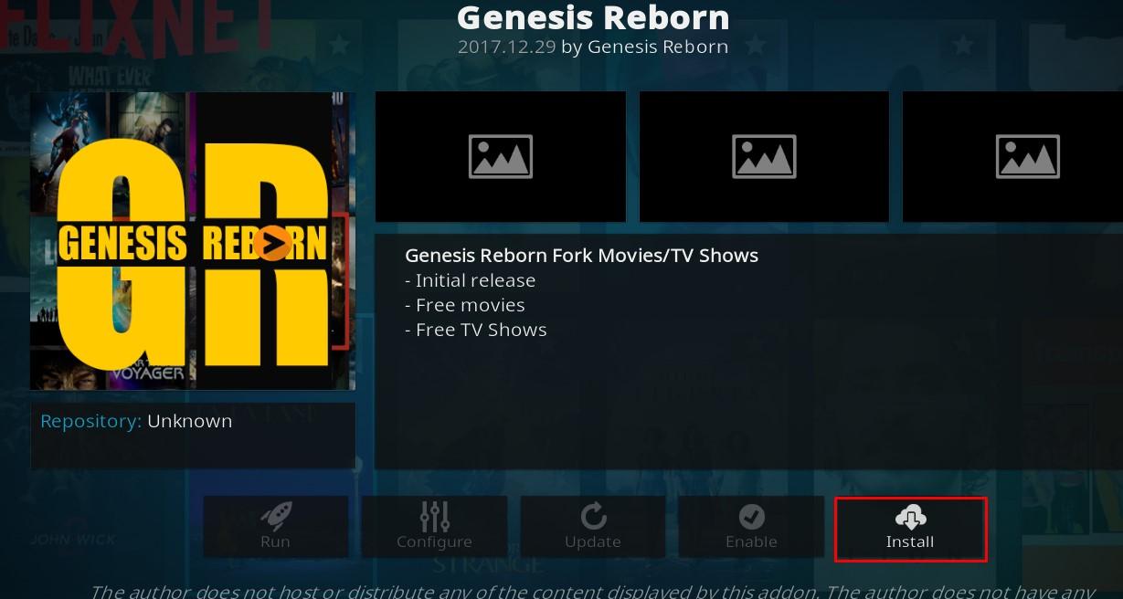 Download Genesis Reborn Kodi 17.6 Addon[New Update]