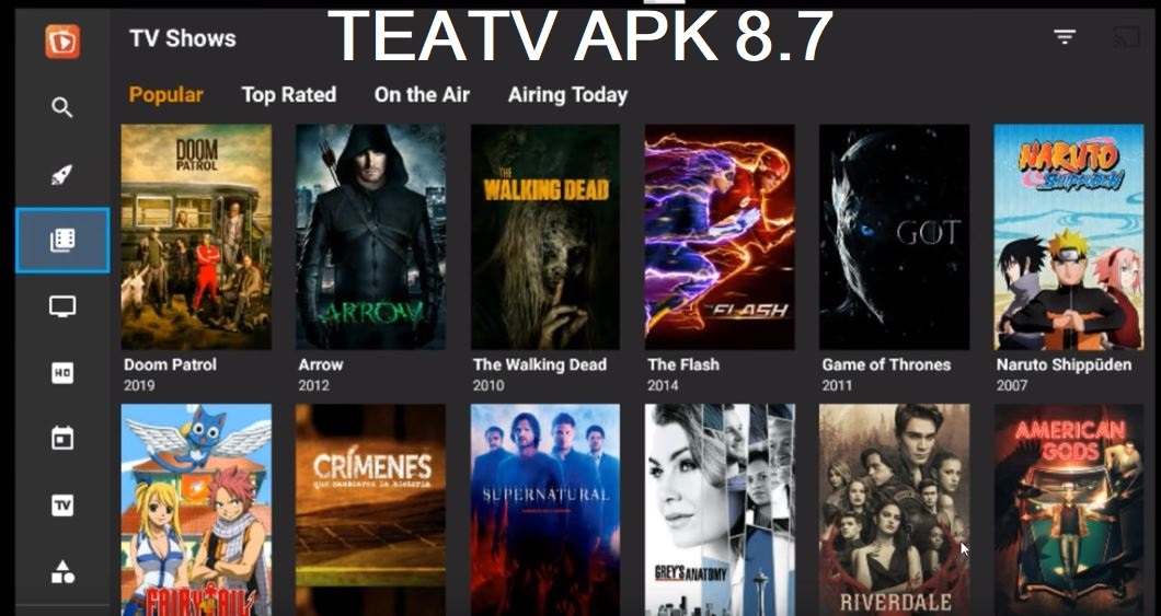 TEA TV 8.7 apk Live Stream Movies TV Shows