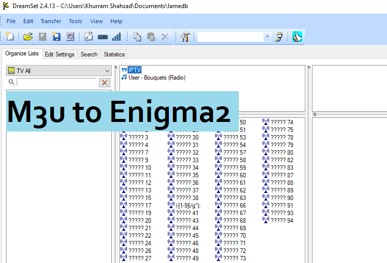 How to Convert m3u m3u8 to enigma2 bouquet Online
