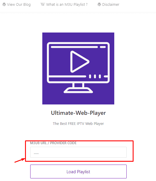 Ultimate-Web-Player IPTV Player for your links